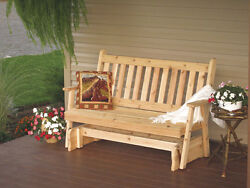 Outdoor Cedar 6 Ft Traditional English Porch Glider *8 STAIN COLORS* Made in USA