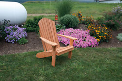 Outdoor Fanback Cedar Adirondack Chair *8 STAIN OPTIONS* Amish Made USA