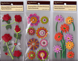 Recollections FLOWER Stickers Several Varieties Gorgeous Quick Ship $2.99