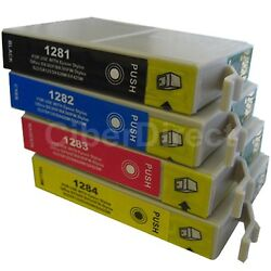 4 CiberDirect Replacements for Epson T1285 Printer Ink Cartridges - VAT Invoice $7.99
