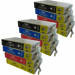 12 CiberDirect Replacements for Epson T1285 Printer Ink Cartridges - VAT Invoice $18.69