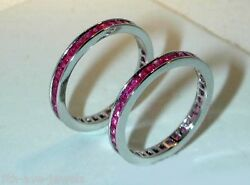 SPECTACULAR PINK SAPPHIRE GUARD RING  IN W.G.