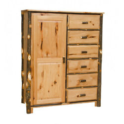 Rustic Hickory Wardrobe  Chest - Amish Made in USA