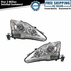 Headlights Headlamps Left amp; Right Pair Set for 06 08 Lexus IS250 IS350 $345.62