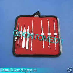 8 Dental Micro Surgery Instruments Surgical Dental With Pouch $30.20