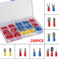280PCS Assorted Crimp Spade Terminal Insulated Electrical Wire Connector Kit Set $12.48