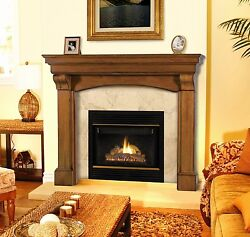 Blue Ridge traditional full arched Fireplace Mantel. Pick size finish