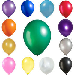 50 pcs 12quot; Metallic LATEX BALLOONS Wedding Party Decorations Supplies on SALE $4.04