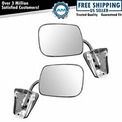 Stainless Steel  Manual Side View Mirrors LH & RH Pair Set for Chevy Truck $62.76