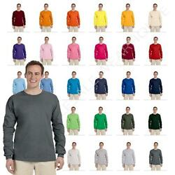 Fruit Of The Loom Mens Long Sleeve T Shirt Heavy Cotton Tee WD930 $9.28