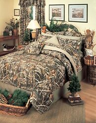 Realtree® Max-4 Camo Comforter Set ~ 5 Sizes ~ Camouflage Hunting Cabin Bedding