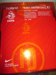 Holland 2004-2005 Limited Ed Van Nistelrooy Home Football Shirt Size large she