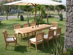 8 PC TEAK DINING SET GARDEN OUTDOOR PATIO FURNITURE NEW Y03 - GIVA COLLECTION