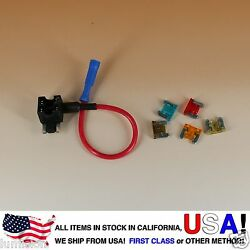 ADD-A-CIRCUIT BLADE STYLE ATM LOW PROFILE MINI FUSE HOLDER FUSE TAP + FUSES $6.99