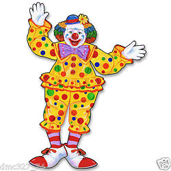 CIRCUS Carnival Big Top Tent Party Decoration Prop Jointed CIRCUS CLOWN 30quot; $11.99