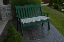 Outdoor Poly 5 Foot ROYAL ENGLISH GARDEN BENCH *TURF GREEN* Made in USA