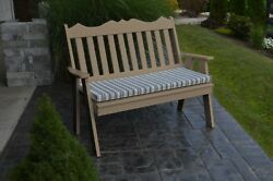 Outdoor Poly 5 Foot ROYAL ENGLISH GARDEN BENCH *WEATHERED WOOD* Made in USA