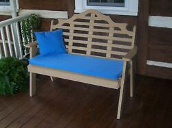 Poly Furniture Wood 4 Foot  MARLBORO GARDEN BENCH *WEATHERED WOOD* 4 Ft Bench