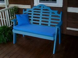 Poly Furniture Wood 5 Foot  MARLBORO GARDEN BENCH *BLUE COLOR* 5 Ft Bench