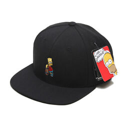 Unisex Mens The Simpsons Bart Skateboard Baseball Cap Snapback Hats Black