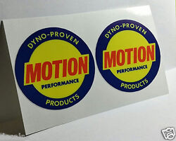 Pair of BALDWIN MOTION PERFORMANCE Vintage Style DECALS Vinyl STICKERS