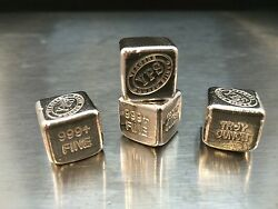 1 oz Hand Poured 999 Silver Bullion Bar Cube by YPS - Yeagers Poured Silver $41.75