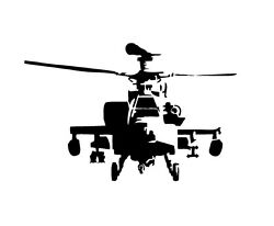 AH64 Apache Attack Helicopter A Vinyl Decal Sticker Window Glass Army Marines $7.19