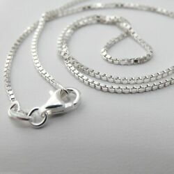 1.2mm Box Chain Necklace - 925 Sterling Silver - Italy 16
