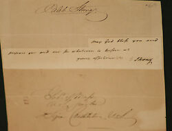 1700'sEarly 1800's Caleb Strong Signed and Inscribed Paper