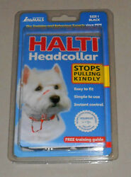 Halti Dog Headcollar by The Company of Animals NIP! Black Size 1 $16.50