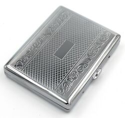 Victorian Style Cigarette Metal Case Double Sided King amp; 100s Linear Pattern L $9.58