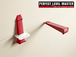 Perfect Level Master™ T-Lock  Tile leveling system wall floor Lippage spacers
