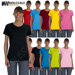 Gildan Womens T Shirt Short Sleeves Heavy Cotton Ladies 5.3 oz Missy Fit MG500L $5.67