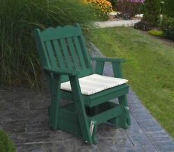 Poly 2 Ft Single ROYAL ENGLISH GLIDER CHAIR *TURF GREEN COLOR* MADE IN USA