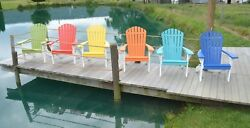 Fanback Adirondack Chair *CHOOSE FROM 12 COLORS WITH BLACK LEG COMBO* Amish Made
