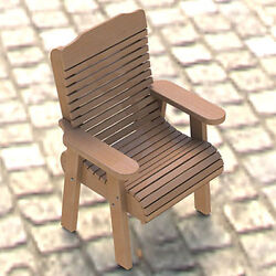 Wooden Lawn Chair Building Plans 001 - Easy to Build - Paper Plans Only
