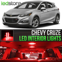 2011 2018 Chevy Cruze Red Interior LED Lights Kit Package License Lights
