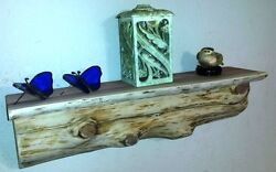 Cedar Log Shelf  Rustic Wood Cabin  Lodge Decor Log Furniture wall shelves