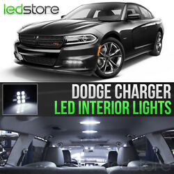 2015 2018 Dodge Charger White Interior LED Lights Kit Package