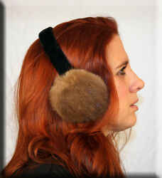 New Lunaraine Mink Fur Earmuffs Efurs4less $24.99