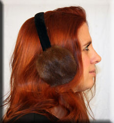 New Brown Mink Fur Earmuffs Efurs4less $24.99