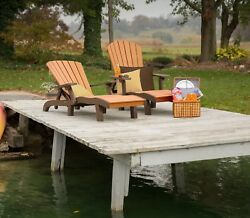 Outdoor Poly Lumber Sea Aira Adirondack Style Lounge Chair - Amish Made