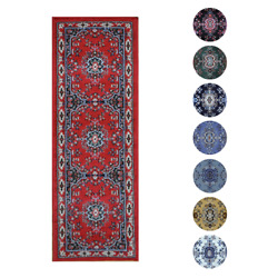 Traditional Oriental Medallion Rug 2x7 Persien Style Runner Actual 1#x27;10quot;x7#x27;3quot; $32.99