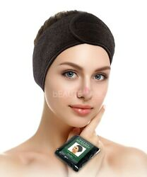 Black Stretch Terry Spa Headband for Facial Makeup Salon and Spa AH1008Bx1 $6.99