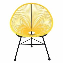 Acapulco Yellow Weave Lounge Chair Patio Outdoor Porch Pool Lawn Chair Fast Ship
