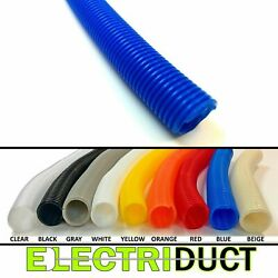 Split Wire Loom Flex Tubing Cable Conduit Polyethylene - Size & Color Options $11.99