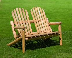 White Cedar Outdoor Park Bench *Stain Options*- AMISH MADE in the USA