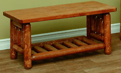 White Cedar Rustic Mission Style Coffee Table *Stain Options*
