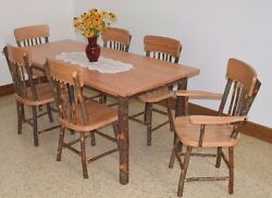 Rustic Hickory Table Set- BRAND NEW FLOOR MODEL ONLY ONE IN EACH STAIN-ON SALE!