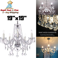 Crystal Vintage Chandelier Lighting Ceiling Fixture Lamp Modern Pendant Light $153.56